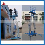 Working Voltage: AC,220V Electric Lift Height 10m Capacity 200kg Mobile Double Mast Aluminium Lift Equipment