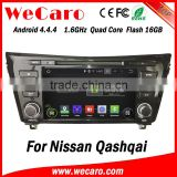"Wecaro Android 4.4.4 car dvd player 8"" touch screen for nissan qashqai car mp3/mp4 player WIFI 3G A9 cpu 2014 2015"