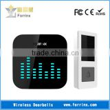 FORRINX Jumpy LED Flashing Lights 52 Melodies 300m Range Black Color Funny Wireless Door Chime