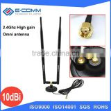 2.4G 10dB antenna high gain omnidirectional antenna SMA WIFI wireless router card wall hole