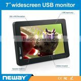 Wholesale 7 inch with speaker built-in usb powered touch screen monitor