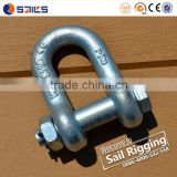 US Type Bolt and Nut Steel Drop Forged Safety Chain Shackle