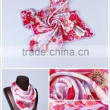100% silk fashion scarves ladies viscose, hijab silk