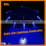 Max+ Beautiful Cute Kid Umbrella NEW Light Blue Straight Led Umbrella With Flashlight