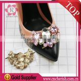 Hot sale butterfly shape crystal rhinestone shoes decoration,heart shape shoe accessories
