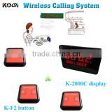 Wireless Table Buzzer Calling System 433.92MHZ Restaurant Pager Equipment Display+ Call Button With Factory Price