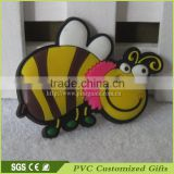 china custom 3d soft pvc rubber fridge magnets with cute honey bee promotional gifts souvenir