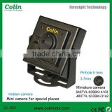Video and audio output wired mini pinhole color hidden camera in security & protection system