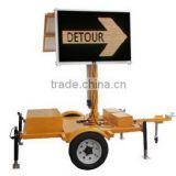 Mobile Solar Power Trailer With Led Traffic Sign