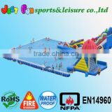 amazing park games mega frame pool and water inflatables, giant water park