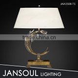 International designer antique art deco brass table lamp