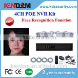 2016 Kendom New IP CCTV System Face Recognition Perimeter Analysis 4CH NVR Kit POE Power CCTV Camera Set