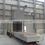 Safe and energy-saving bogie hearth electric resistance furnace
