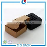 Wholesale creative handmade quality kraft folding brown kraft paper black soap box                                                                                                         Supplier's Choice