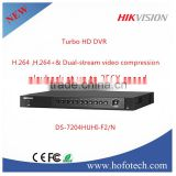 2016 Hikvision dvr camera HDMI and VGA Output 4-CH Turbo HD TVI DVR,dvr h 264 DS-7204HUHI-F2/N