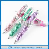 Wholesale Newest Corlorful Mini Crystal Bling Metal Ball Pen Made In China