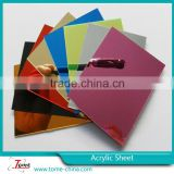 Gold mirror acrylic sheet with factory price