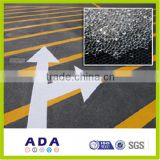 reflective road marking paint glass beads