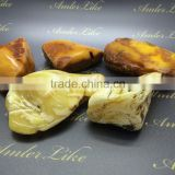 Polished Natural White Baltic Amber stones 100-200 , Amber raw stone