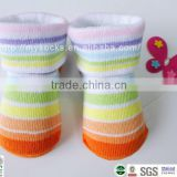 vivid rainbow ankle socks