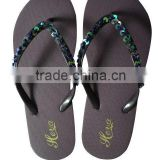 2013 new well sale women's flip flops/women's slippers/women's sandals with paillette on the upper(HG13001B