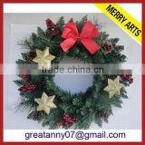 hot new products for 2016 wholesale artificial christmas wreaths christmas decoration ornaments