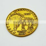 wholesale custom fake gold plated souvenir coin