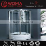 Portable Tempered Glass shower enclosure Indoor Round shower with bathtub Y601