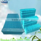 Evaporative air cooler water wicking material
