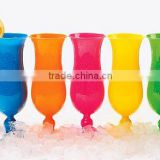 Coloured Hurricane Plastic Cocktail Glasses