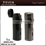 Yujia 4 flame cigar torch lighter with punch custom                                                                         Quality Choice