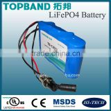Hot Sale!! Lithium (LiFePO4) Battery 12V 3AH with PCM for emergency lighting/medical devices