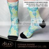 Winter wholesale cotton unisex printed comfort coloured socks men