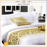 China manufacturer european hotel bed linen reactive dyeing 100% cotton bed linen with pillows