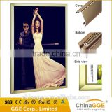 Long using life snap aluminum edge display light box for cabinet restaurant
