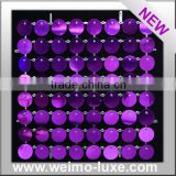 2016 New Patent Shimmer Purple Disc Sequins With Clear Grid For Event/Show/Stage Backdrop Decoration