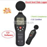 2015 hot sale! digital decibel sound level meter tester 30~130dB with datalogger large LCD display TL-200