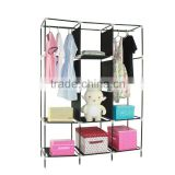 folding assemble plastic portable wardrobe closet