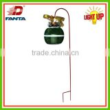 Hot selling metal Christmas lantern stake with LED light