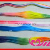 pretty colored synthetic hair extensions three tone hair extension ranbow color i tip hair extensions
