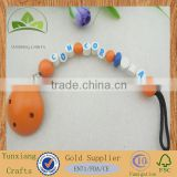 wooden wood round baby clothes convenient pacifier clips