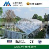 15m clear marquee party tent with durable clear roof and side walls