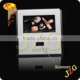 China factory supply 7 inch screen digital photo frame with wireless barcode scanner for counter display
