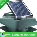 14 inch 15W brush/brushless motor Solar powered roof exhaust fan with adjustable solar panel
