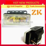 Auto lamp factory 12 voltage square yellow heavy truck car driving fog light halogen lamp spot light 100W