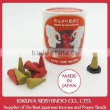 Nippon Kodo, Cafe Time Incense, Apple & Jasmine Tea, cone incense, incense stand included, 10 pieces (5 pieces of each)
