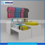 Clothes store furniture retail showcase clothing display table