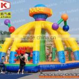 Commercial Inflatable Bounce House Yellow Design Inflatable Fun City For Kids Outdoor Game