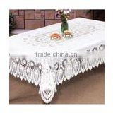 2016 hotsale custom printed recycled and 100 biodegradable christmas transparent plastic tablecloth