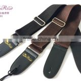 High quality acoustic guitar strap brown& black color guitar straps for sela